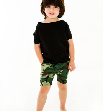 Plush Panda boys designer drop crotch shorts Camouflage