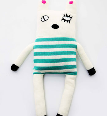 Soft knitted design toy – Green Stripes (50cm)