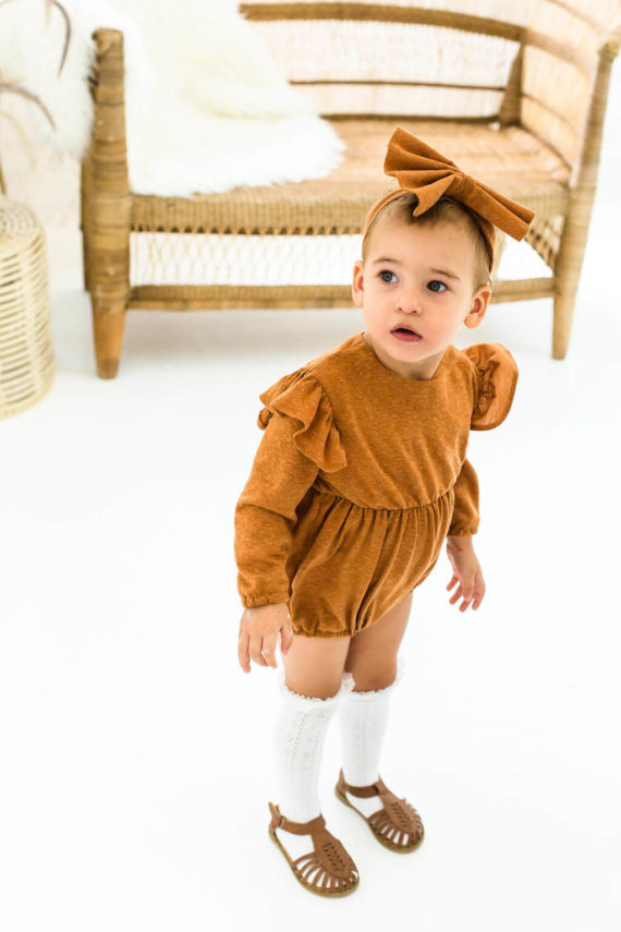 comfortable feel how to get good texture Tan Winter Playsuit Romper